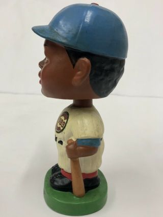 1962 CHICAGO CUBS BLACK FACE BOBBLE HEAD NODDER MADE IN JAPAN GREEN BASE RARE 2
