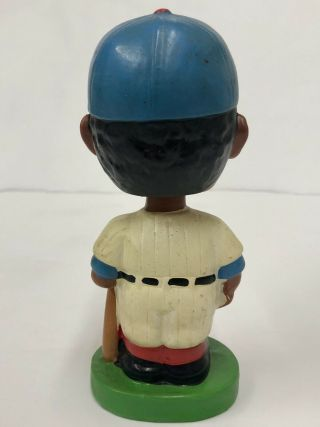 1962 CHICAGO CUBS BLACK FACE BOBBLE HEAD NODDER MADE IN JAPAN GREEN BASE RARE 3
