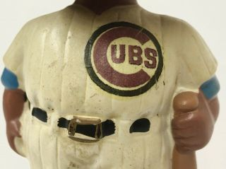 1962 CHICAGO CUBS BLACK FACE BOBBLE HEAD NODDER MADE IN JAPAN GREEN BASE RARE 6