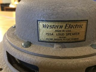 Vintage Extremly Rare Western Electric 755a Speaker