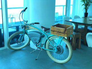Vintage Electric Bicycle - Tifanny Blue - ($3,  995)