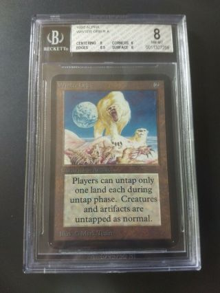 1993 Magic The Gathering Mtg Alpha Winter Orb R A Bgs 8.  0 Nrmt,  (pwcc)