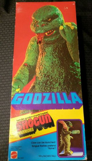 Vintage 1977 Shogun Warriors Godzilla True 1st Issue Mattel Japan Rare Nos