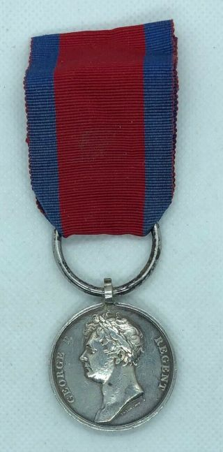 1815 Waterloo Medal - 4th Line Battalion - Rare.