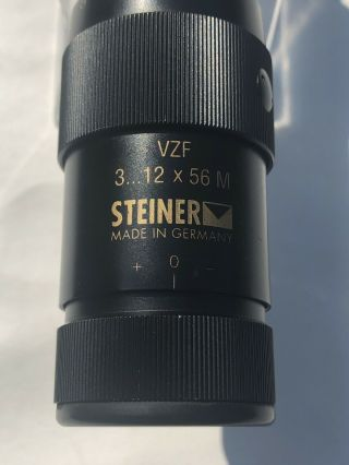 Vintage Steiner 3 - 12x56 - M - Vzf Rifle Scope,  Made In Germany,  30mm Tube & Rare