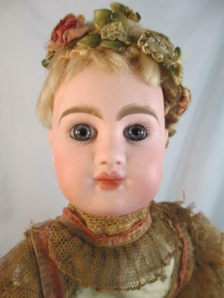 Antique French Bisque Doll R D Key Automaton Mechanism
