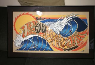 U2 Pearl Jam 2006 Hawaii Poster Rare Klausen Framed Uv Protection
