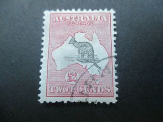 Kangaroo Stamps: £2 1st Watermark Cto Melbourne Cancel - Rare (-)