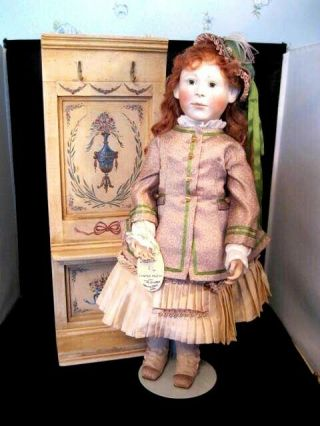 "Rare 18 "" Lynne And Michael Roche Doll Jessica W/ Hall Tree 4 Of 7 2000"