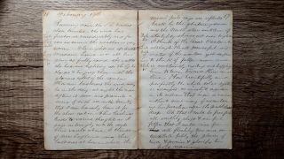 Circa 1856 Handwritten Diary Voyage At Sea By United States Consul To Mauritius