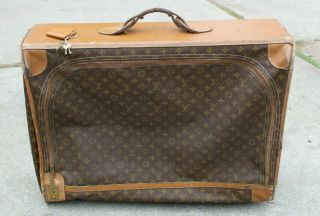 Vintage Louis Vuitton Monogram Rolling Suitcase Luggage Trunk W Keys 28x22 Large