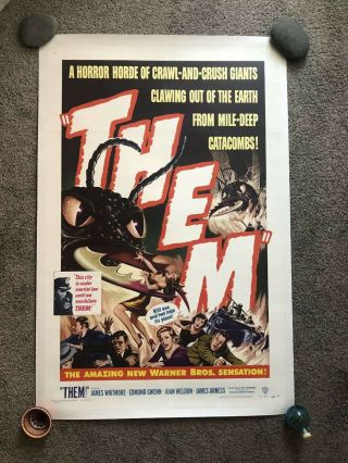 Them 1954 Vintage 27x41 One Sheet Movie Poster Science Fiction