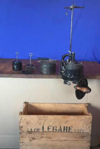 Antique Legare Knitting Circular Sock Machine Csm Knitter 2 Cyl 1 Rib,  Box