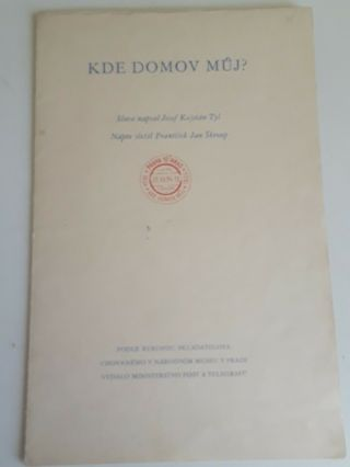 Stamps Czechoslovakia 1934,  Rare Sheets,  Kde Domov Muj,  Canceled