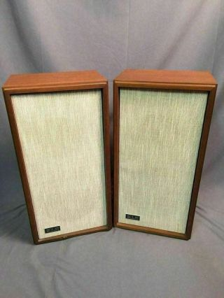Klh Model Seventeen Vintage Acoustic Suspension Speaker System 17 Made In Usa