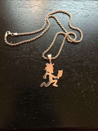 2000 Official Silver Hatchetman Icp Vintage Plus Chain Very Rare 100 Authentic