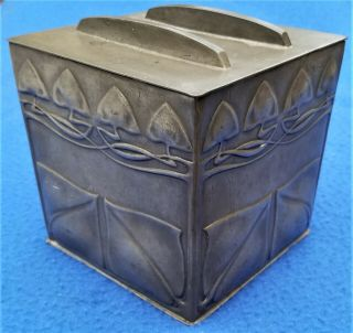 Archibald Knox For Liberty & Co Tudric Pewter Biscuit Box 0237 England