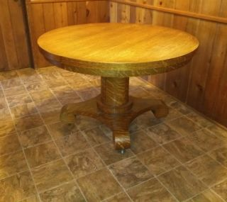 Antique Oak Extension Dining Room Table
