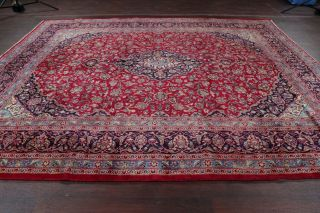 Vintage Traditional Floral Red Area Rug Hand - Knotted Living Room Oriental 10x12
