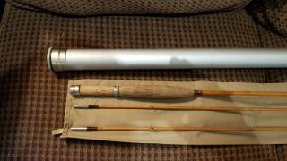Thomas & Thomas Special Trouter Bamboo Fly Rod 9 Foot 5/6wt 2pc 2 Tips