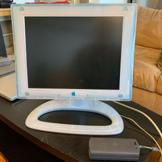 Rare Vintage Apple Studio Display 15 Blue & White Lcd Vga Rca M6356/a Rev.  B