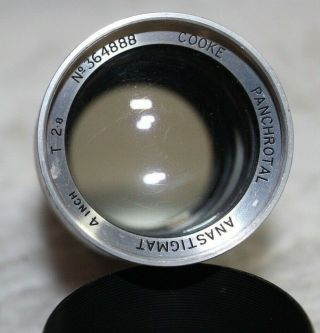 "Very Rare Cooke Panchrotal Anastigmat 4 "" 100mm T 2.  8 Lens Modified To Leica Ltm"