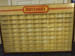 Vintage Matchbox Store Display Case From Lesney Products