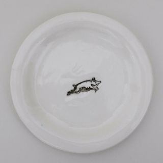 Rare Handmade Vintage Rae Dunn Plate Stamped Ear On The Back