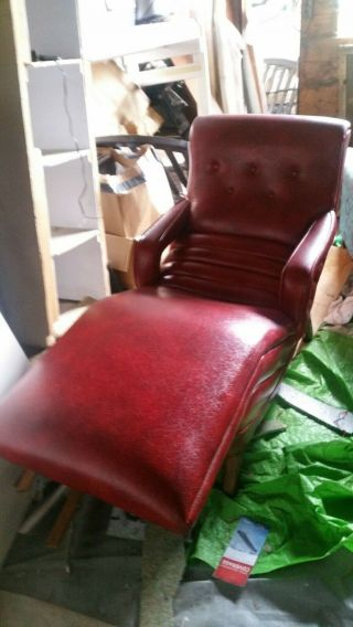 Vintage Retro Mid Century Modern Electric Reclining Contour Chair Chaise Lounge