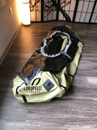 Green Kokopelli Rogue Packraft Kayak With T - Zip Rare/sold Out