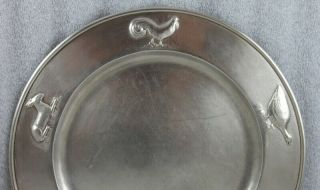 "Kalo Hand Wrought Sterling Silver Chicago Arts and Crafts Child's Plate 9 ¼"" 3"
