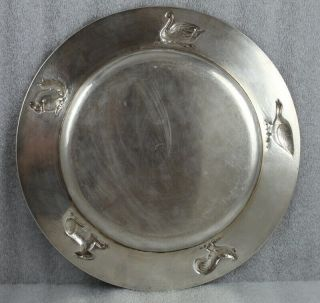 "Kalo Hand Wrought Sterling Silver Chicago Arts and Crafts Child's Plate 9 ¼"" 6"