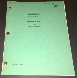 "Twilight Zone (1959) Rare Orig.  "" Perchance To Dream "" Beaumont Teleplay,"