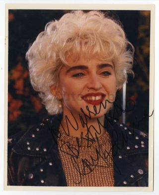 Madonna - Scarce Early Career Vintage Autographed & Inscribed 8x10