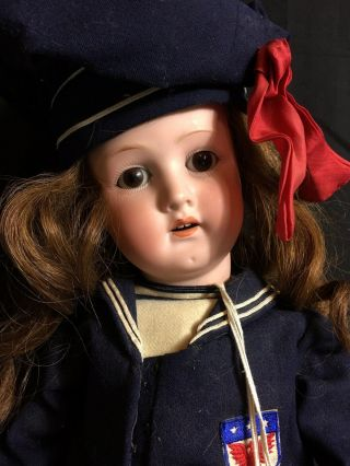 "23 "" Heubach Koppelsdorf 250 Bisque Head Doll Composition Body Germany"