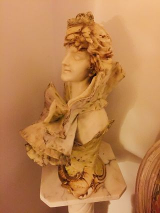 Early 20th Cent.  Porcelaine Teplitz Bust Of Woman By E.  Stellmacker One Of kin 5