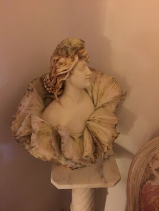 Early 20th Cent.  Porcelaine Teplitz Bust Of Woman By E.  Stellmacker One Of kin 7