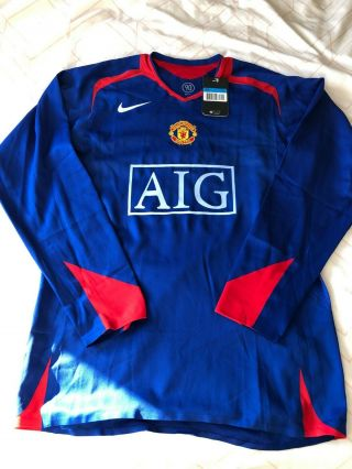 Rare Manchester United Player Issue 2006/07 Away Shirt - Medium - Bnwt - L/s