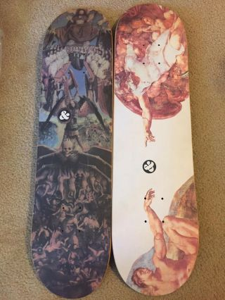 G&s Heaven And Hell Slick Set.  Vintage Skateboard Slick Skateboard Og Skateboard