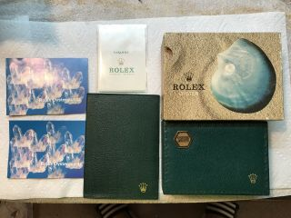 Vintage Rolex Oyster Quartz Box With Wallet And Booklets