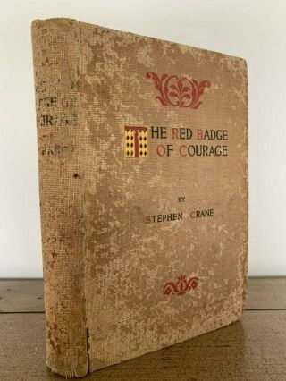 Rare True 1st Edition The Red Badge Of Courage 1895 By Stephen Crane Civil War