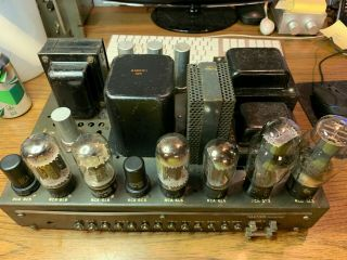 Rca Mi - 12235 6l6 Tube Amplifier Vintage Antique Western Electric 60 Watt 6c5