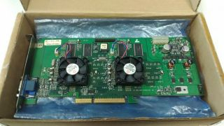3dfx Voodoo5 5500 Agp Rare Vintage Video Card Cleaned,  Fans Replaced