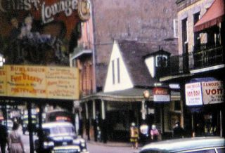 Vintage 1940s Home Movie on 16mm COLOR Film.  Trip to Orleans,  LA. 8