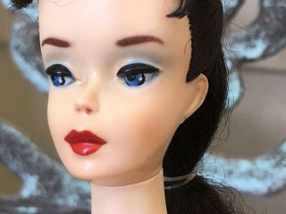 Stunning Vintage 3 Brunette Ponytail Barbie Doll With Ss Shoes Sg