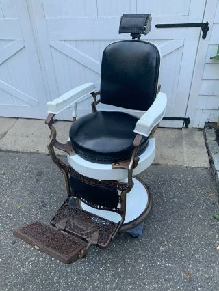 Antique Early 1900s Koken Barber Chair