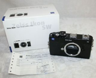 Zeiss Ikon Sw Wide Camera Body Rare Black