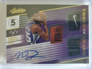 Marvin Bagley Absolute Memorabilia Tools Of The Trade Auto Patch 1/1 Rare