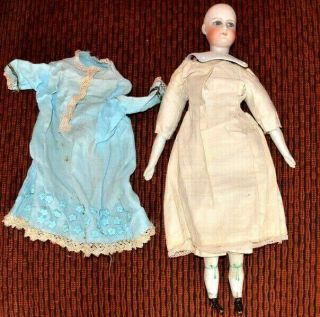 Antique Fashion Doll Bisque French Francois Gaultier Lady In Clothing