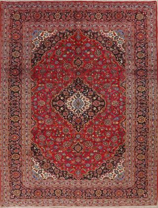 Wool Handmade Traditional Floral One - Of - A - Kind Oriental Area Rug Carpet 10 X 13
